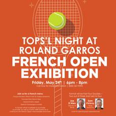 TOPS'L Beach & Racquet Resort Tennis Event Poster