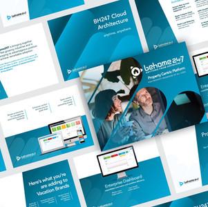 BeHome 247 Professional Presentation Template Design