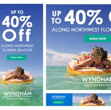 Wyndham Vacation Rentals Banner Ads for Northwest Florida Promotion