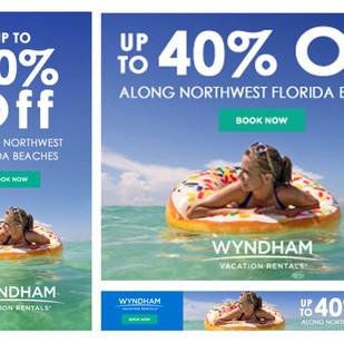 ResortQuest Banner Ads for Northwest Florida Promotion