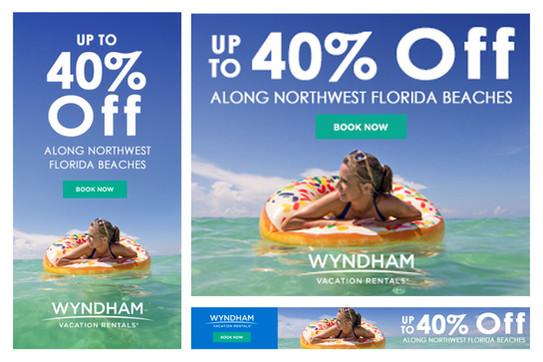 ResortQuest by Wyndham Vacation Rentals Banner Ad Campaign