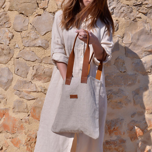 PURA | bolso de lino mediano