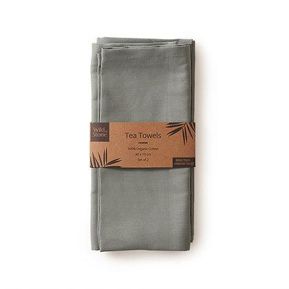 Wild & Stone Tea Towels 100% Organic Cotton - Set of 2