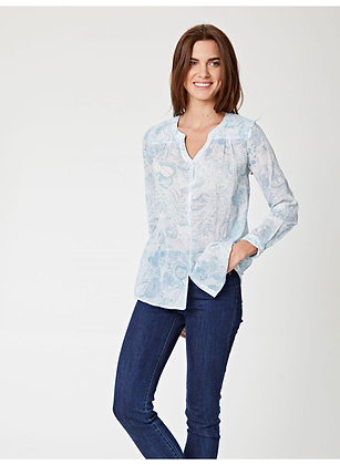 Thought Marina Printed Organic Cotton Ladies Blouse - Floral