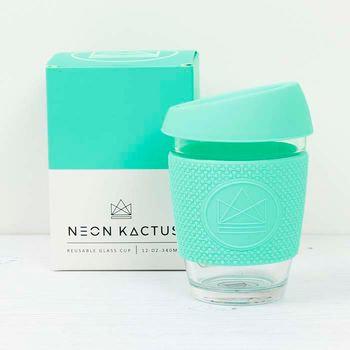 Neon Kactus Glass Coffee Cup - Various