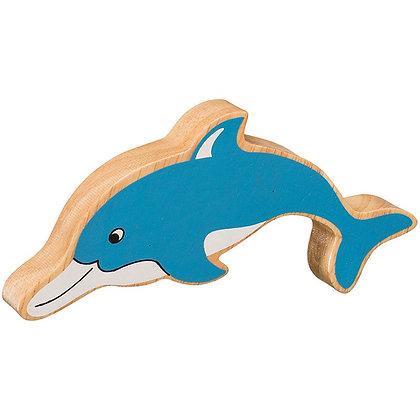 Lanka Kade Natural Wooden Blue Dolphin NC274