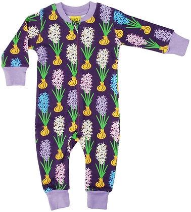 Duns Hyacinth Zip Suit - Dark Purple