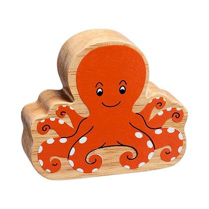 Lanka Kade Natural Wooden Orange Octopus NC285
