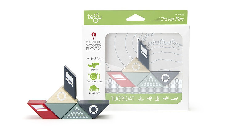 Tegu Magnetic Block Travel Set - Tugboat