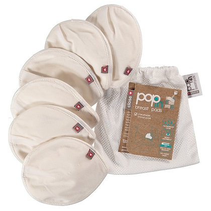 Close Pop-in Washable Reusable Breast Pads - 6 Pack