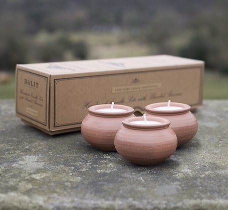 Dalit Goods Co Karan Pot Candle - 3 pack