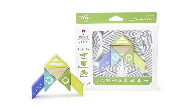 Tegu Magnetic Block Travel Set - Spaceship