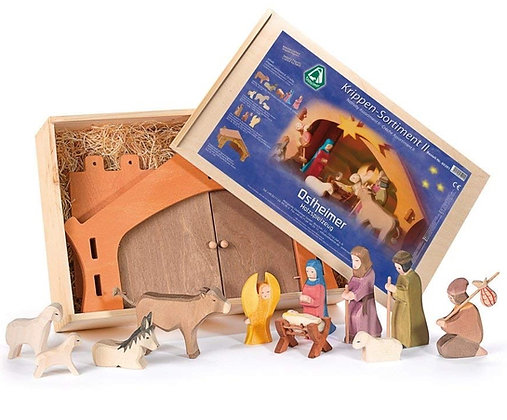Ostheimer Handmade Wooden Nativity Set