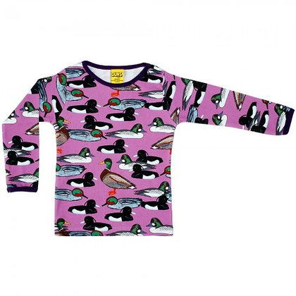 Adult Mama Duns Duck Pond Long Sleeve Top - Violet