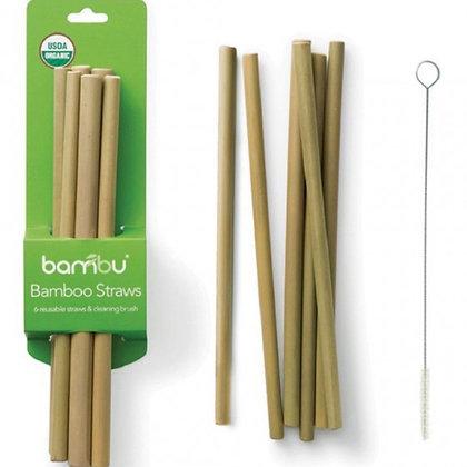 Bambu Bamboo Drinking Straws - Various