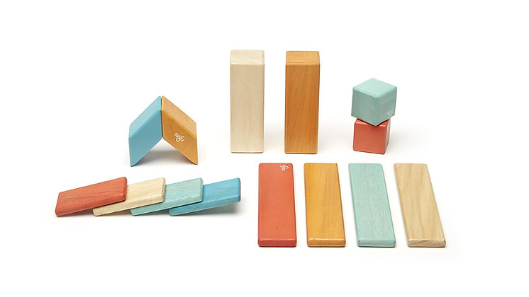 Tegu Magnetic Block Set 14 Piece - Sunset