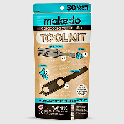 Makedo Cardboard Construction Kit - 30 Piece
