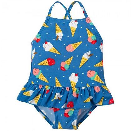 Frugi Little Coral Swimsuit Ice Cream Dream