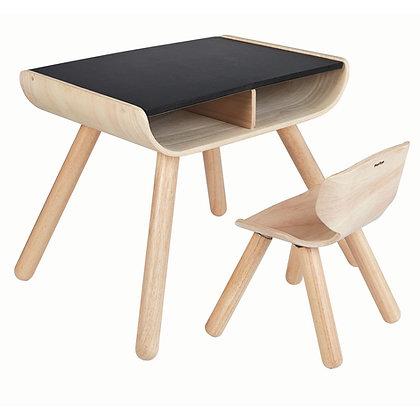Plan Toys Table & Chair Set - Black