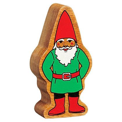 Lanka Kade Natural Wooden Red & Green Gnome NC608