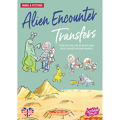 Scribble Down Transfers - Alien Encounter