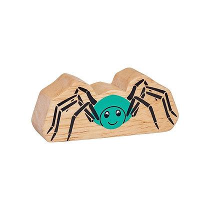 Lanka Kade Natural Wooden Turquoise Spider NC196