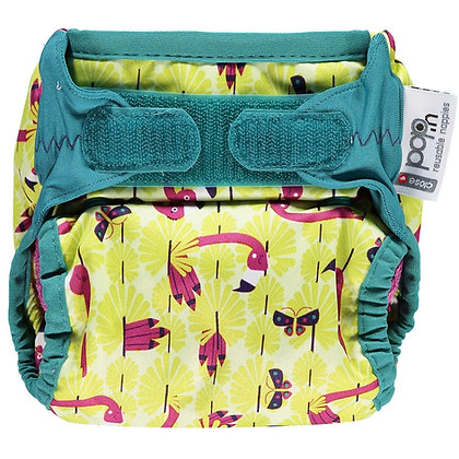 Pop-in New Gen V2 Single Printed Cloth Nappy +bamboo - Various