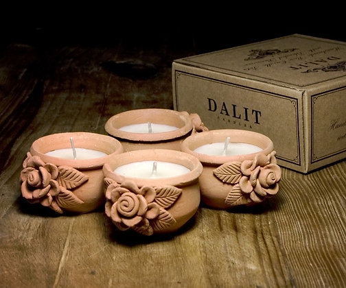 Dalit Goods Co Rose Pot Candles - 4 pack