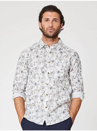 Thought Mens Organic Cotton Junius Shirt- Floral