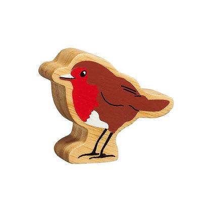 Lanka Kade Christmas - Natural Wooden Red & Brown Robin