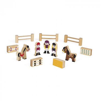Janod Mini Story Wooden Toy Set - Riding School