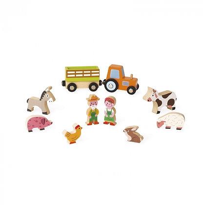 Janod Mini Story Wooden Toy Set - Farm