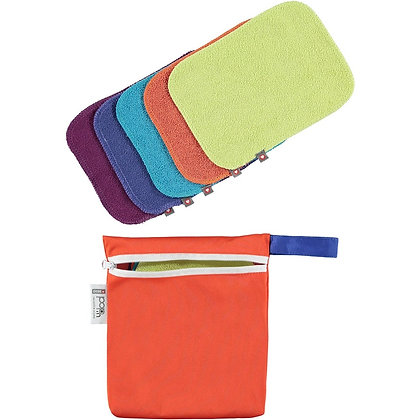 Close Pop-in Bamboo Washable Reusable Baby Wipes - Brights