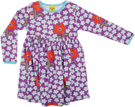 Duns Orchid LS Gathered Dress
