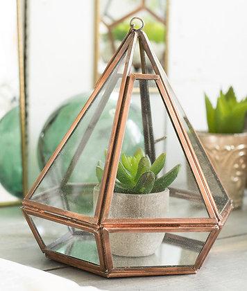 Geometric Planter / Lantern - Copper Finish