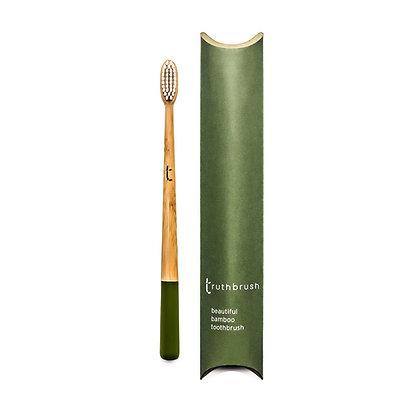 Truthbrush Bamboo Toothbrush - Olive Green - Medium