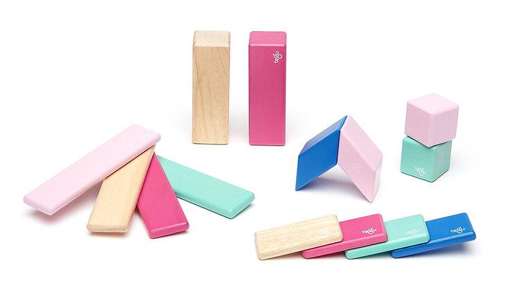 Tegu Magnetic Block Set 14 Piece - Blossom