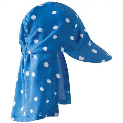Frugi Little Swim Legionnaires Hat - Sail Blue Polka Dot