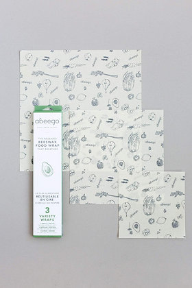 Abeego Variety Pack Beeswax Food Wraps