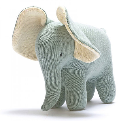 Best Years Organic Cotton Elephant Soft Toy - Teal