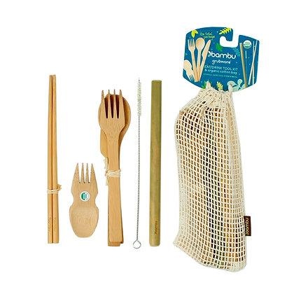 Bambu Organic Bamboo Eat & Drink Tool Kit