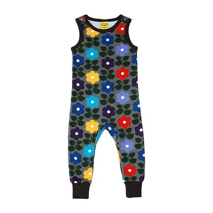 Duns Flower Dungarees - Charcoal