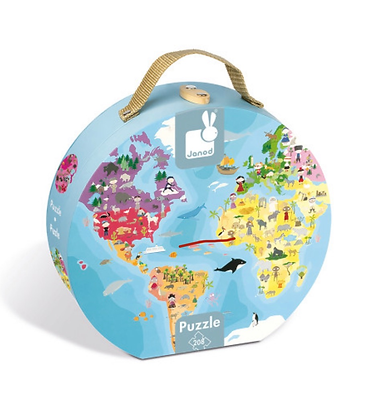 Janod 208 Piece Double Sided Blue Planet Puzzle