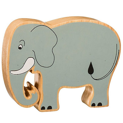 Lanka Kade Natural Wooden Grey Elephant NC257