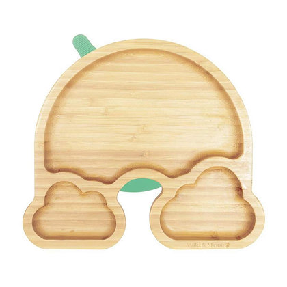 Wild & Stone Over the Rainbow Weaning Plate - Green