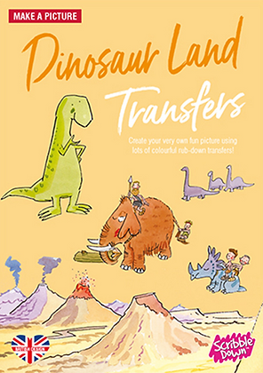Scribble Down Transfers - Dinosaur Land