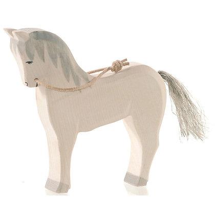Ostheimer Handmade Wooden White Horse 11116