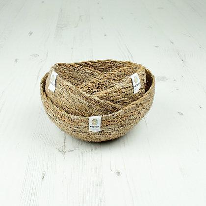Respiin Seagrass Mini Bowl Set - Natural
