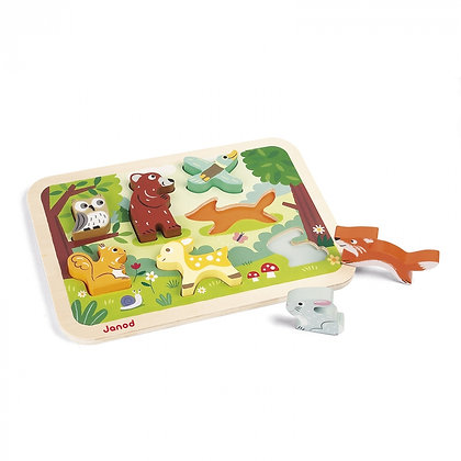 Janod Chunky Wooden Forest Puzzle