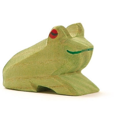 Ostheimer Handmade Wooden Sitting Frog 1636